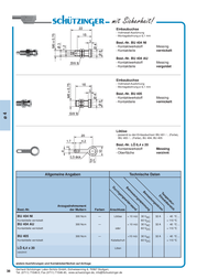 Schuetzinger Fuse connector Socket, vertical vertical Pin diameter: 4 mm Nickel Schützinger BU 404 NI 1 pc(s) BU 404 NI Data Sheet