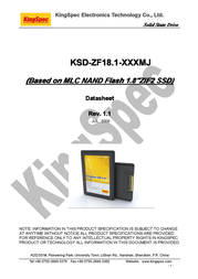 KingSpec 64GB ZIF KSD-ZF18.1-064MS Manuale Utente
