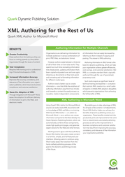 Quark XML Author, FLO, Lvl B, 50-99u 128145-B Leaflet