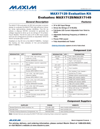 Maxim Integrated MAX17129 Evaluation Kit MAX17129EVKIT+ MAX17129EVKIT+ Data Sheet