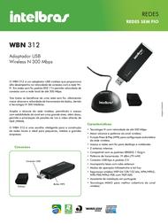 Intelbras WBN 312 4005062 Leaflet