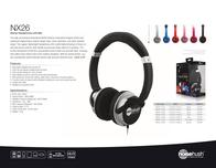 NoiseHush NX26 NX26-11778 Leaflet
