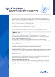 ZyXEL ZyAIR B-1000 v.2 - 802.11b Wireless Access Point 110101.1000.2 Leaflet