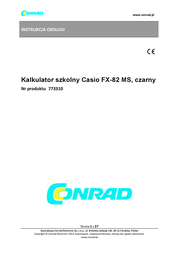 Casio FX-82MS FX82MS Data Sheet