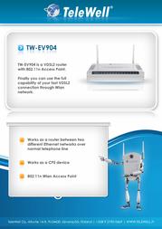 Telewell TW-EV904 Листовка