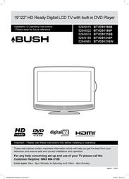 Bush BTVD91216B User Manual