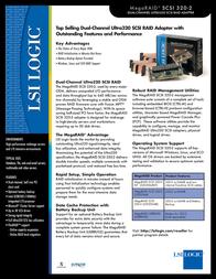LSI MegaRAID SCSI 320-2 MRSCSI320-2 Leaflet