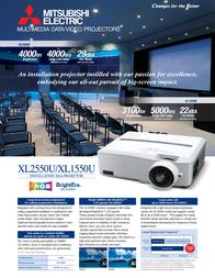 Mitsubishi Electric XL2550U 211325 Leaflet