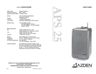 Azden ASP 25 User Manual