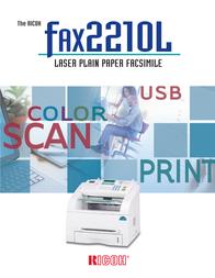 Ricoh Fax 2210L 966093 User Manual