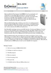 EnGenius EOA-8670 Outdoor Layer-2 MESH AP 710201GEOA8670 User Manual