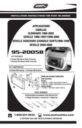 Metra 95-2005B User Manual