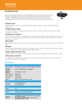 Sony ZS-S3IPN Specification Guide