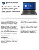 HP 8760w XU100UT User Manual