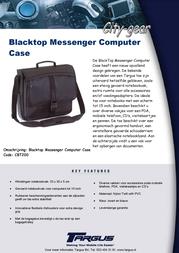 Targus Blacktop Messenger Computer Case CBT200 Leaflet