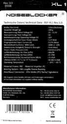 Noiseblocker XL1 Data Sheet