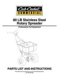 Cub Cadet 80 LB User Manual