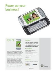 Qtek HTC TyTN PocketPC Phone EN HTC092710 Leaflet