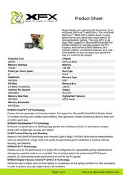 XFX GeForce 6600 PV-T43PNDH7 User Manual
