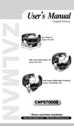 Zalman CNPS7000B-Cu Intel/AMD CPU compatible fan CNPS7000B-CU User Manual