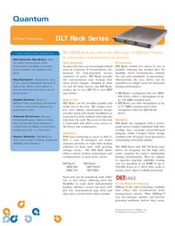 Quantum DLT VS160 RACKMNT BLACK BHGCA-EO Leaflet