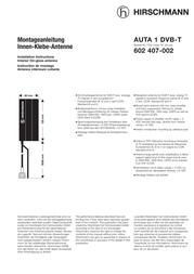 Hirschmann DVB-T antenna HIRSCH User Manual
