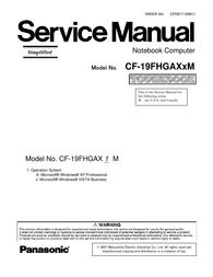 Matsushita CF-19FHGAX User Manual