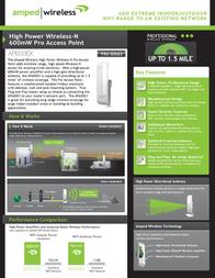 Amped Wireless AP600EX Leaflet