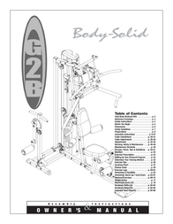 Body Solid G2B User Manual
