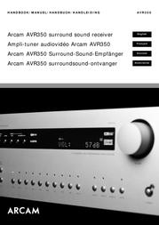 Arcam AVR350 User Manual