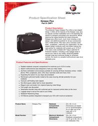 Targus Notepac Plus CNP1?KIT3 Leaflet