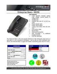 Interquartz 98390B4 Leaflet