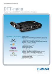 Humax DTT-nano DTT2100PPV Leaflet