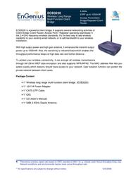 EnGenius ECB-3220 Wireless Indoor Access Point ECB-3220 User Manual