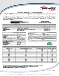 Terrawave TWS-600 Leaflet