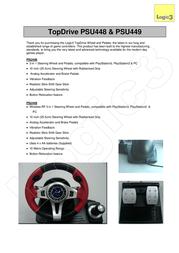 Logic3 TopDrive FreeBird RF (3-in-1) PSU449 User Manual