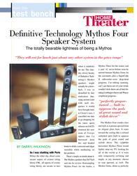 Definitive Technology HT1004 User Manual