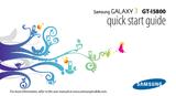Samsung GT-I5800 GT-I5800CWANEE User Manual