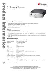 Pro-Ject Amp Box Mono 3081020008 Leaflet