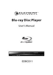 ELEMENT Electronics Element Electronics Blu-ray Player EDBCO11 User Manual