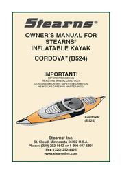 Stearns Boat B524 User Manual