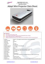 Adapt mX Pocket Projector 8717568403144 Leaflet