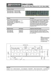 Dataram DRH1333RL/4GB Leaflet