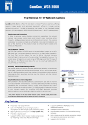 CP Technologies 11g Wireless P/T IP Network Camera WCS-2060 Leaflet