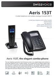 SwissVoice Aeris 153T Combo 20405139 Leaflet