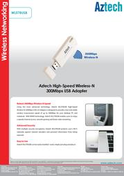 Aztech WL578USB Product Datasheet