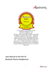 Alpatronix HX110 User Manual