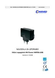 Hn Power USB charger Mains socket HNP06-USB-C USB 1 x 1200 mA HNP06-USB-C User Manual
