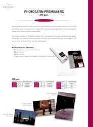 Canson Infinity PhotoSatin Premium RC 270 6231010 Leaflet