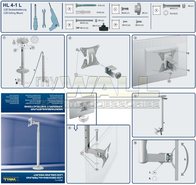myWall HP 4-1 HP 4-1 Ceiling Mounting Wall bracket for LCD, LED and Plasma TVs 25 - 76 cm Steel HP 4-1 Data Sheet